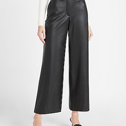 High Waisted Vegan Leather Culotte Pant | Express