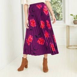 Women's Paisley Print A-Line Pleated Skirt - A New Day™   Target