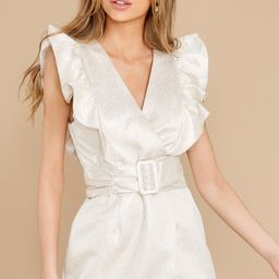 Pinot Party Cream Dress White   Red Dress