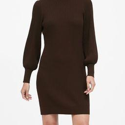 Puff-Sleeve Sweater Dress   Banana Republic (US)