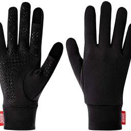 Aegend Lightweight Running Gloves Warm Gloves Mittens Liners Women Men Touch Screen Gloves Cyclin... | Amazon (US)