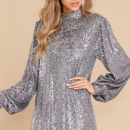 Shining Superstar Silver Sequin Dress | Red Dress