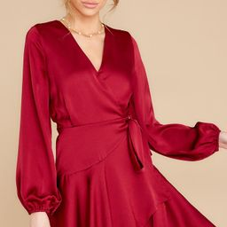 Dancing With You Wine Dress | Red Dress