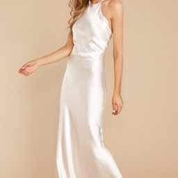 She's Famous Champagne Maxi Dress | Red Dress