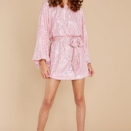 Twinkle And Sparkle Pink Sequin Dress | Red Dress