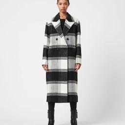 AllSaints Lottie Wool Blend Check Coat | All Saints US