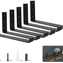 Shelf Brackets 12 Inch Heavy Duty Metal Shelf Holders, L Angle Brackets for Wall Mounted Shelves ... | Amazon (US)