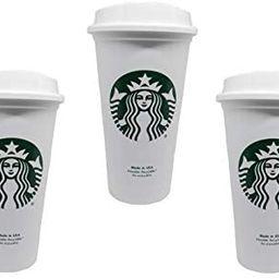 Starbucks Reusable Cup To Go Travel Coffee Tea Tumbler 16 Oz (Pack of 3) | Amazon (US)