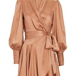 Silk Mini Wrap Dress   INTERMIX