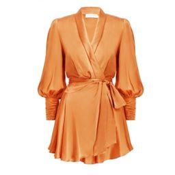 Silk Wrap Mini Dress   ZIMMERMANN (APAC)