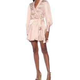 Silk satin wrap dress   Mytheresa (US)