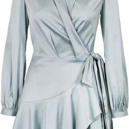 Sienna Silk Wrap Dress   LUCY PARIS