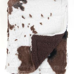 Tadpoles Receiving and Stroller Blankets Brown - 30'' x 40'' Brown & White Cow Print Stroller Blanke   Zulily