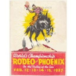 Phoenix 1937 Rodeo 18x24 Vintage Print   Etsy (US)