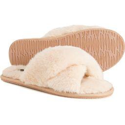 Clarks Crisscross Slide Slippers - Faux Fur (For Women) | Sierra