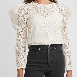 Lace Puff Sleeve Top | Express