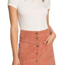 Warning Sign Corduroy Miniskirt | Nordstrom