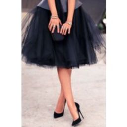 Knee Length Black Tulle Skirt/ 60 Colours Available in High Quality   Etsy (US)