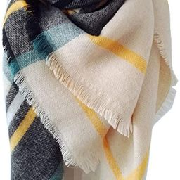 Large Soft Plaid Scarf Women Winter Knit Blanket Scarf Cashmere Feel Shawl and Wraps   Amazon (US)