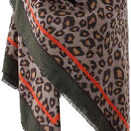 Women's Leopard Print Blanket Square Wrap Scarf   Amazon (US)