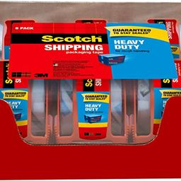 """Scotch Heavy Duty Shipping Packaging Tape, 6 Rolls with Dispenser, 1.88"""" x 22.2 yd, 1.5"""" Core, Gr...   Amazon (US)"""