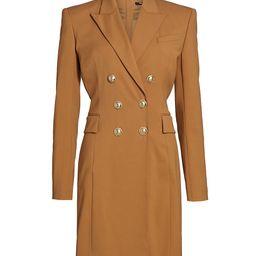 Balmain Women's Double Breasted Jacket Dress - Camel - Size 34 (2) | Saks Fifth Avenue