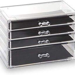 BINO 4 Drawer Acrylic Jewelry and Makeup Organizer, Clear Cosmetic Organizer Vanity Storage Displ...   Amazon (US)