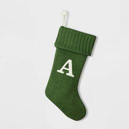 Knit Monogram Christmas Stocking Green - Wondershop™ | Target