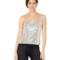 BB Dakota Hide Sequin Top (Silver) Women's Clothing | Zappos