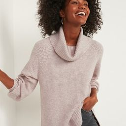 Textured Waffle-Knit Cowl-Neck Sweater for Women   Old Navy (US)