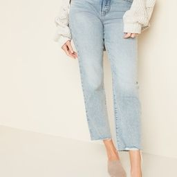 Extra High-Waisted Sky-Hi Straight Raw-Hem Jeans for Women   Old Navy (US)