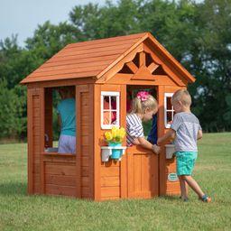 Backyard Discovery Timberlake Cedar Wooden Playhouse   Walmart (US)