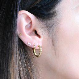 Twisted Hoop Earrings, Chunky Hoop Earrings, Chunky Hoops, Gold Hoops, Gold Hoop Earrings, Silver... | Etsy (US)