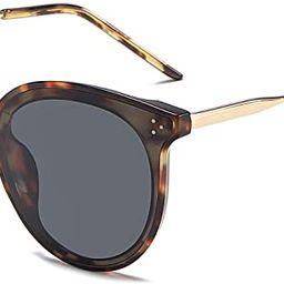 SOJOS Retro Round Sunglasses for Women Oversized Mirrored Glasses DOLPHIN SJ2068 | Amazon (US)