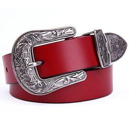 Ayli_AsYouLikeItWomen's Jean Belt Vintage Western Floral Buckle Cowgirl Handcrafted Genuine Leath... | Walmart (US)