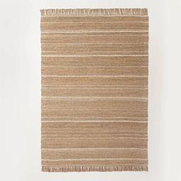 Jute Variegated Stripe Area Rug - Hearth & Hand™ with Magnolia   Target