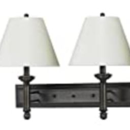 Cal Lighting LA-60002W2L-1 Traditional Two Light Wall Lamp from Hotel Collection in Bronze/Dark Fini | Amazon (US)