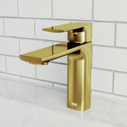 Vigo VG01043 Davidson 1.2 GPM Single Hole Bathroom Faucet Matte Gold Faucet Bathroom Sink Faucets Si | Build.com, Inc.
