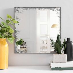 Antiqued Glass Wall Mirror, 18x18 in. | Kirkland's Home