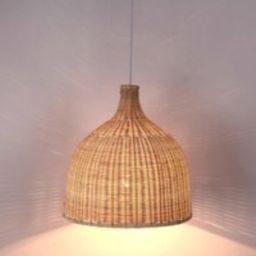 Arturest Rattan Pendant Light, Handmade Basket Lamp, Woven Wicker French County Style Pedant Ceiling   Etsy (US)