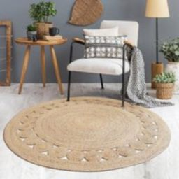 Custom Round Brown Woven Seagrass Rug Straw Floor With Patterns Mats Rugs Handmade Bedroom Area Mat    Etsy (US)