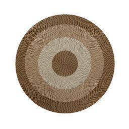 Better Trends Country Braid Collection Durable Stain Resistant Reversible Straw 8 ft. x 8 ft. Round    The Home Depot