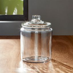 Heritage Hill 64 oz. Glass Jar with Lid + Reviews   Crate and Barrel   Crate & Barrel