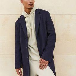 ASOS DESIGN unlined wool mix overcoat in navy | ASOS (Global)