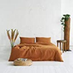 """Linen Duvet Cover In Cinnamon - Queen Size (90 x 88"""")   Amazon (US)"""