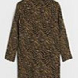 Roselle Tiger-Striped Coat   Anthropologie (US)