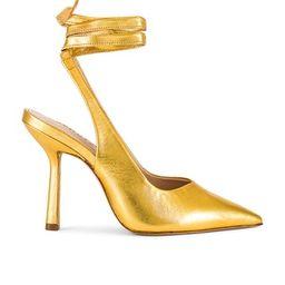 Schutz Abbi Pump in Gold from Revolve.com | Revolve Clothing (Global)