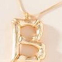 Bamboo Monogram Pendant Necklace   Anthropologie (US)