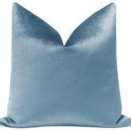 Faux Silk Velvet // Hydrangea Blue   LITTLE DESIGN COMPANY