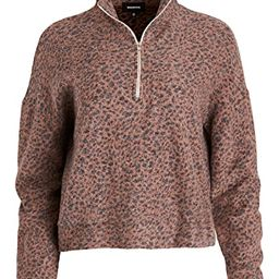 Mini Leopard Half Zip Sweatshirt   Shopbop